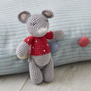 Hand Crochet Mabel Mouse Baby Rattle