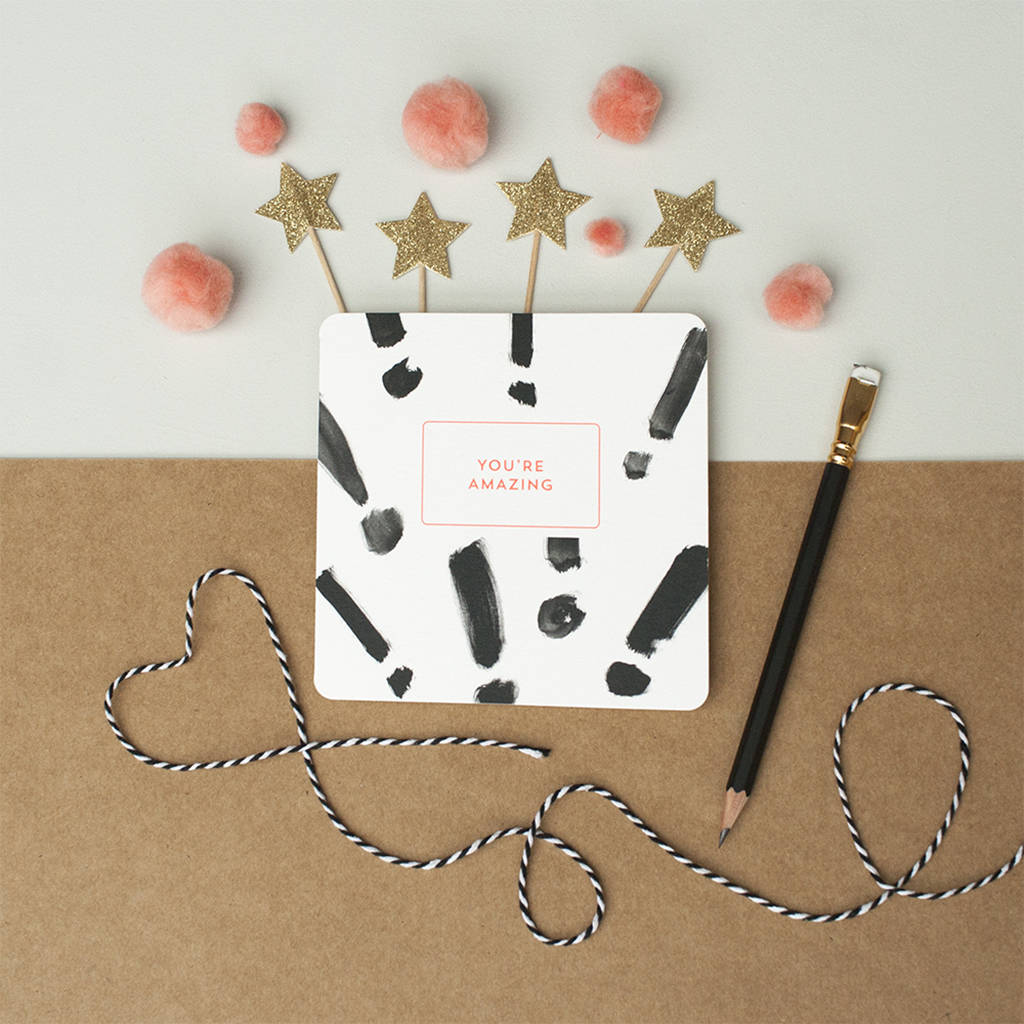 You Re Amazing Thank You: 'you're Amazing' Exclamation Marks Thank You Card By Spots