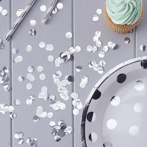Silver Foil Wedding And Party Confetti - table decorations