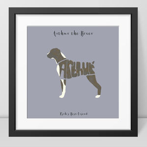 Personalised Boxer Dog Picture - new in prints & art