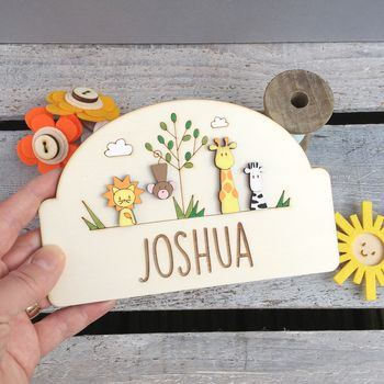 Personalised Jungle Door Plaque