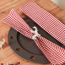 Set Of Four Red Gingham Farmhouse Fabric Napkins