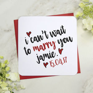 I Can't Wait To Marry You Wedding Day Card - cards sent direct