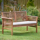 Two Seater Hardwood Garden Sofa