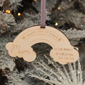 Personalised Rainbow Memorial Christmas Tree Decoration