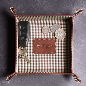 Personalised Leather Coin Tray - new in home