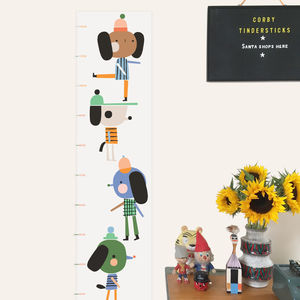 Hipster Dogs Height Chart - baby's room