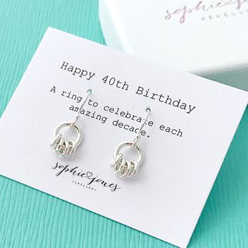 40th Birthday Earrings