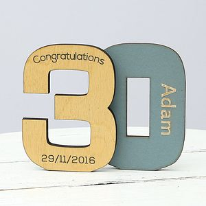 Personalised 30th Birthday Keepsake Gift