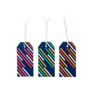 Stripes | Gift Tags X6 - gift tags & labels