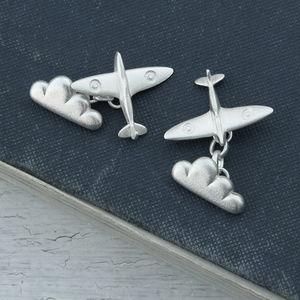 Spitfire And Cloud Cufflinks