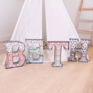 Pastel Patterned LED Letter Light - decoration