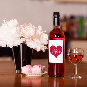 Love Heart 'Mum' Rose Wine