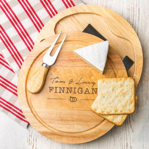 Personalised Wedding Cheeseboard And Knife Set - personalised wedding gifts