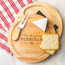 Personalised Wedding Cheeseboard And Knife Set
