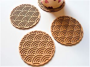 Abstract Circles Coaster Set