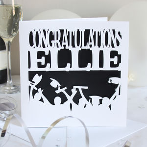 Personalised Congratulations Card - graduation cards