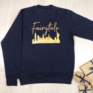 Fairytale Over New York Christmas Jumper - women's fashion