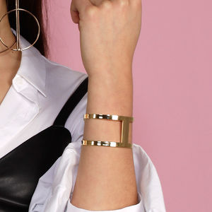 Sleek Modern Cuff - rose gold jewellery