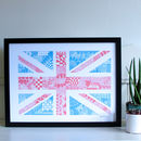 Hand Drawn Union Jack Flag Print