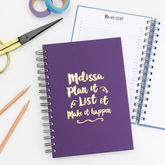 'Plan It, List It' Foiled Diary And Planner - stationery
