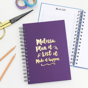'Plan It, List It' Foiled Diary And Planner