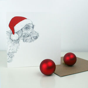 Wire Haired Dachshund Christmas Card