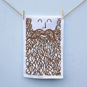 Beard Man Tea Towel - sale by category