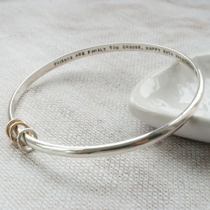 Personalised Silver Message Bracelet With Rings - bracelets & bangles