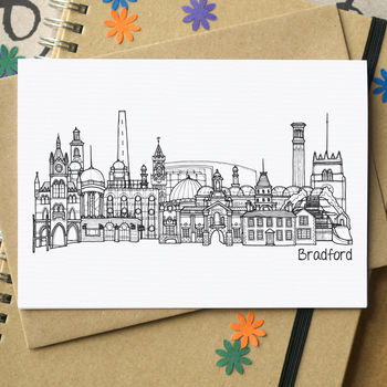 Bradford Skyline Cityscape Greetings Card