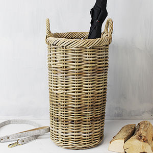 Round Handwoven Umbrella Basket