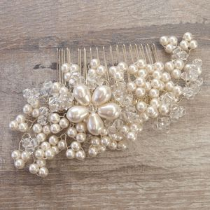 Maya Vintage Pearl Bridal Hair Comb - wedding fashion