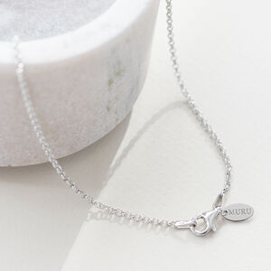 Silver Plain Belcher Chain Necklace