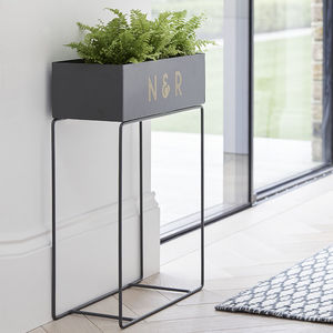 Exclusive Monogram Metal Trough - outdoor decorations