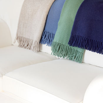 Plain Wool Throw