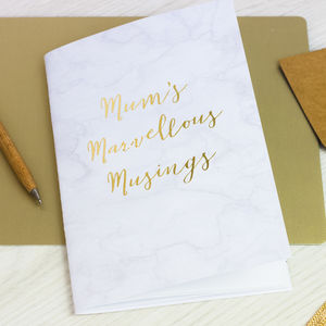 Mum's Marvellous Musings Notebook - mother's day gifts