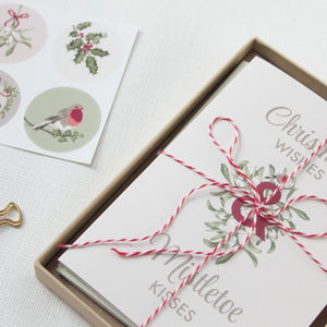 Vintage Inspired Christmas Cards: Pack Of Eight - cards & wrap