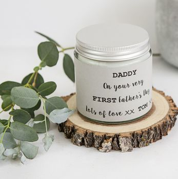 Personalised First Father's Day Organic Candle