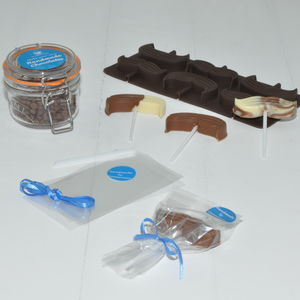 Personalised Chocolate Kit Lollipop Moustaches - personalised