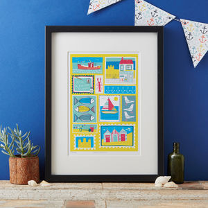 Coastal Patchwork Art Print - what's new
