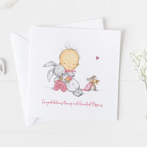 New Baby Card For Girls, Christening Card Girls ..3v3a