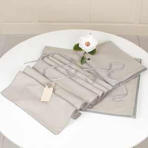 French Grey Dinner Table Cloth Set - kitchen