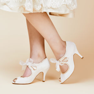 Agnes Suede Wedding Shoes - bridal finishing touches