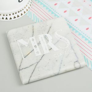 Personalised Marble Wedding Coasters
