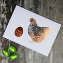 Easter Chicken Foiled Card