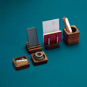 Solid Wood Desk Tidy Modular Set - stationery-lover