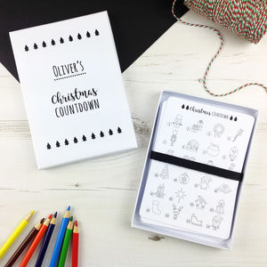 Christmas Countdown Advent Colouring Box - advent calendars
