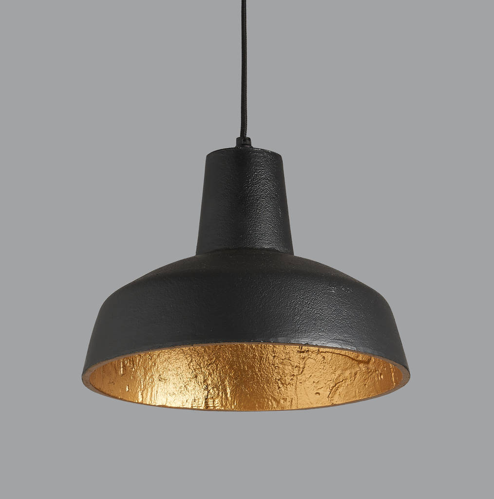Otto Black And Gold Pendant Light By Horsfall & Wright ...