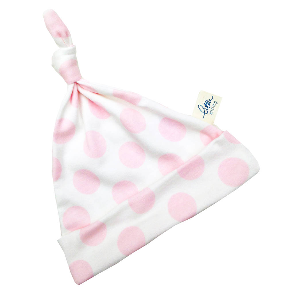 Baby Girl Hat Pink Polka Dot