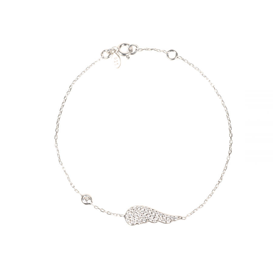 small angel wing bracelet sterling silver by latelita london ... a8f89f515